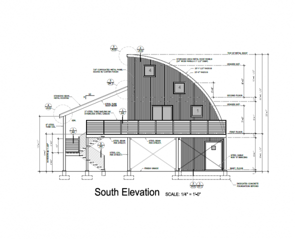 Architectural Drawing Q Cabin